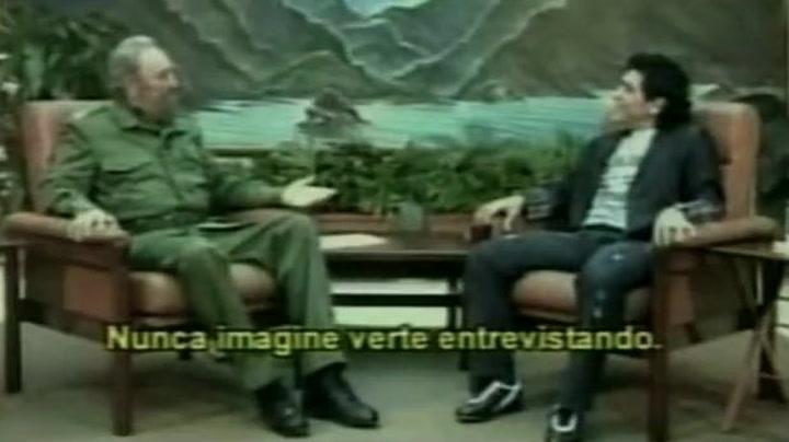 Maradona entrevistó a su buen amigo Fidel Castro