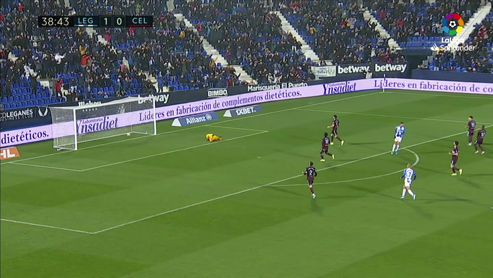 Gol de Óscar (2-0) en el Leganés 3-2 Celta