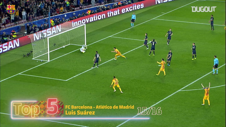 Luis Suárez's Top Five Goals in Champions League