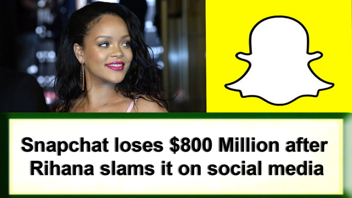 Snapchat loses £650 million after Rihanna condemns firm