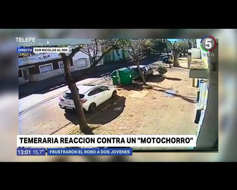 Vecinos de Echesortu corrieron a palazos a un motochorro