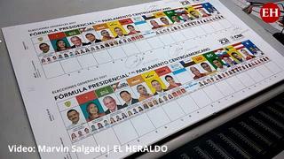 Inicia impresión de las papeletas para las elecciones generales