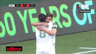 Portland Timbers está goleando a Marathón y echándolo de la Champions de Concacaf