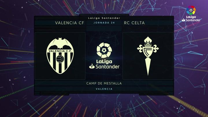 LaLiga Santander (J24): Resumen y goles del Valencia 2-0 Celta
