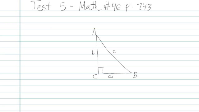 Test 5 - Math - Question 46