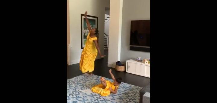 El vídeo viral de Serena Williams disfrazada de princesa de Disney con su hija