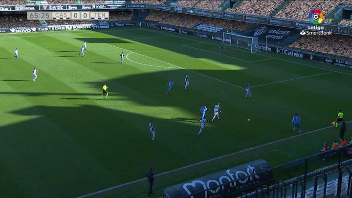 Gol de Pomares (0-1) en el Castellón-Tenerife