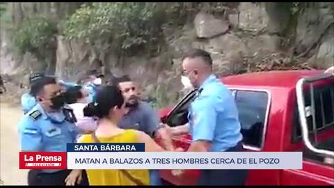 Policía evita que familiares se lleven cadáveres de tres acribillados cerca de El Pozo