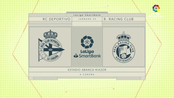 LaLiga SmartBank (J23): Resumen y goles del Deportivo 2-1 Racing