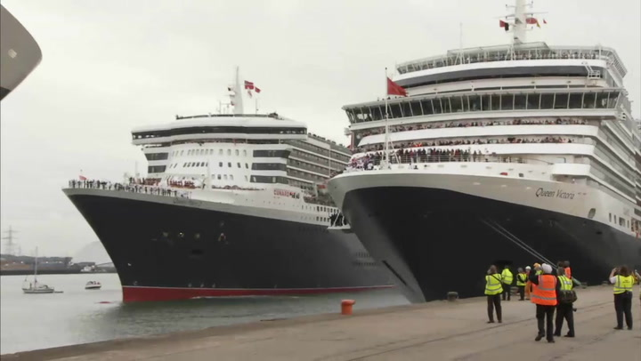 Royal Rendezvous: 3 Cunard Queens Arrive In Southampton
