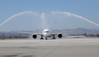 Tel Aviv to Las Vegas, El Al's first nonstop flight lands at McCarran