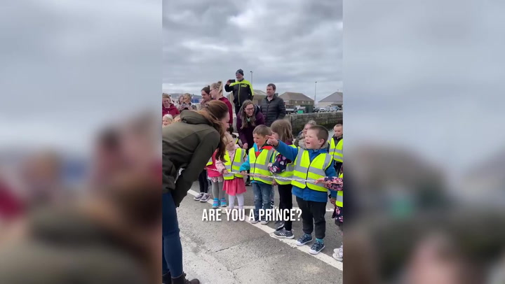 Little boy asks Kate Middleton: 'Are you a prince?'