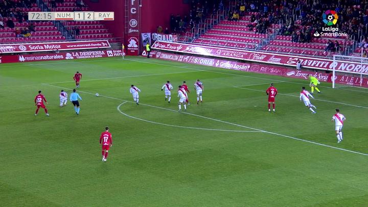 El afortunado gol de Moha que evitó el triunfo del Rayo en Soria