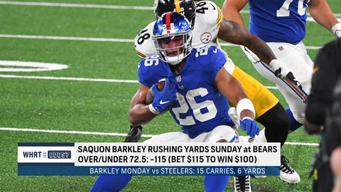 What are the odds on Saquon Barkley's rushing yards in Week 2?