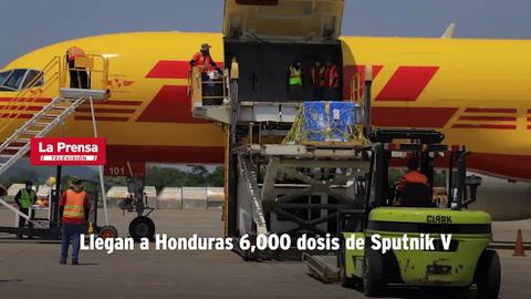 Llegan a Honduras 6,000 dosis de Sputnik V