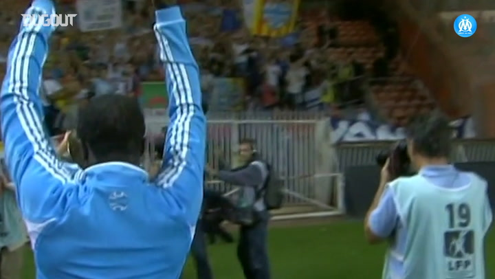 Olympique de Marseille's tribute to Pape Diouf