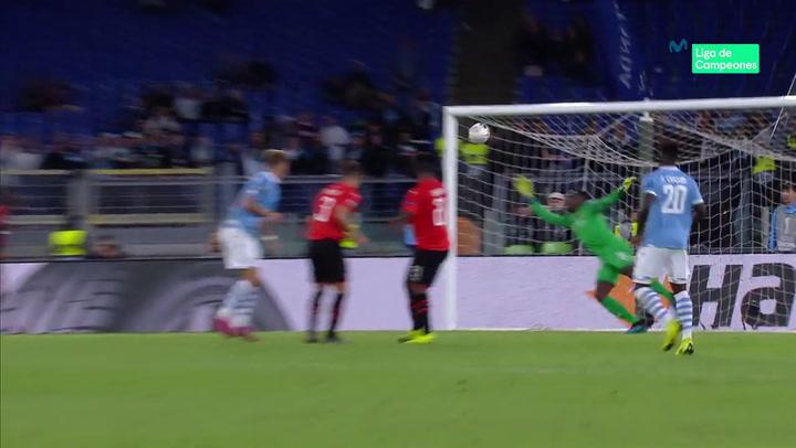 Gol de Immobile en el Lazio-Rennes de Europa League