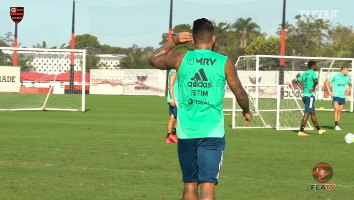 Flamengo train ahead of Brazilian Championship start