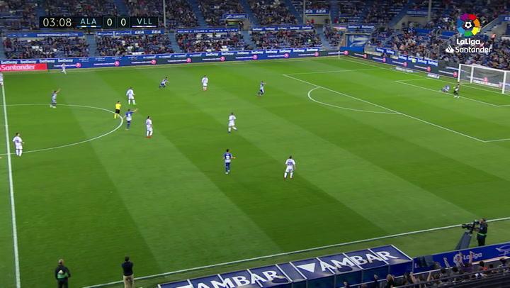 LaLiga: Alavés-Valladolid. Gol de John Guidetti (1-0)