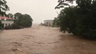 Así luce el río Negro, en Trujillo, Colón tras las fuertes lluvias
