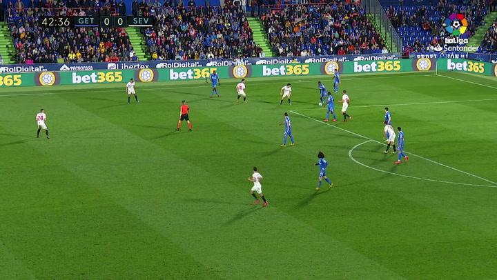 Gol de Ocampos (0-1) en el Getafe 0-3 Sevilla