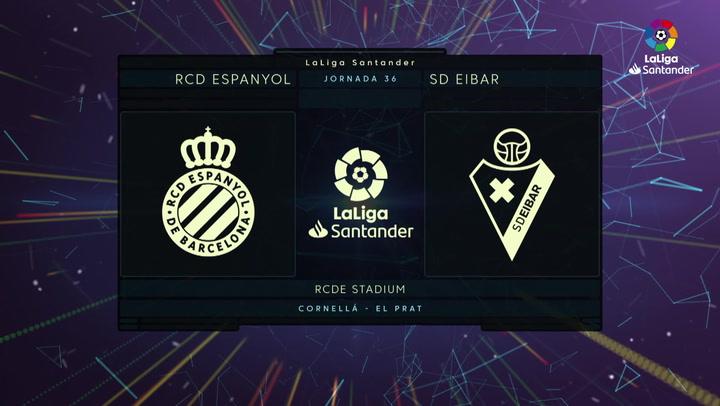 LaLiga (J36): Resumen y goles del Espanyol 0-2 Eibar