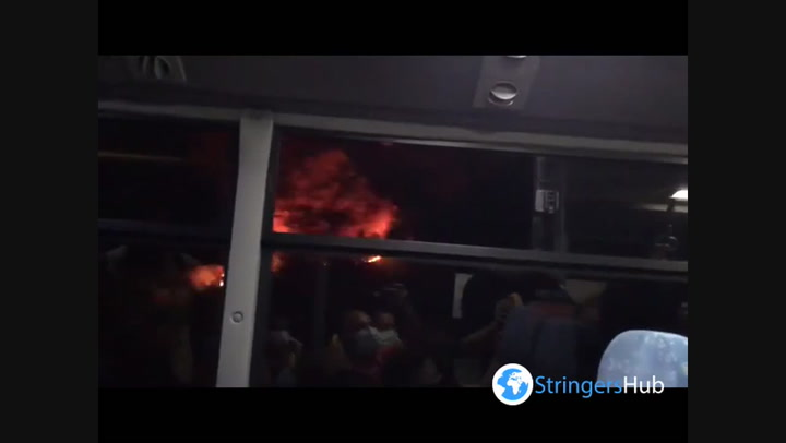 Wildfires in Turkey rage as evacuees are brought away by bus