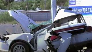 Man critically hurt in North Las Vegas crash