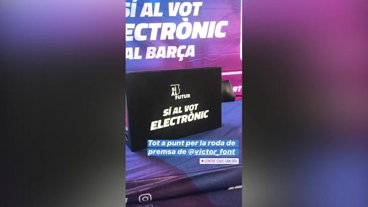Víctor Font ha presentado casi 5.000 apoyos para el voto electrónico en las oficinas del F.C. Barcelona