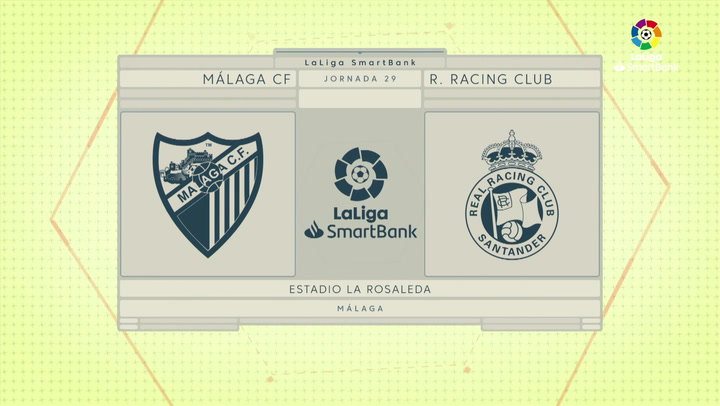 LaLiga SmartBank (J29): Resumen y goles del Málaga 2-0 Racing