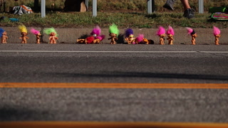 For over 20 years, Barb and Jim Collette have been placing trolls along the curb outside their home on London Road in Duluth as encouragement for the Grandma's Marathon participants. (Samantha Erkkila / serkkila@duluthnews.com)