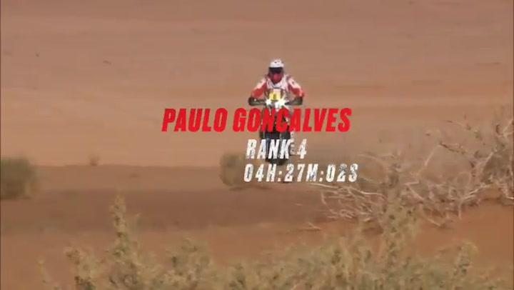 Paulo Gonçalves, en unas imágenes de la etapa 4 del Dakar