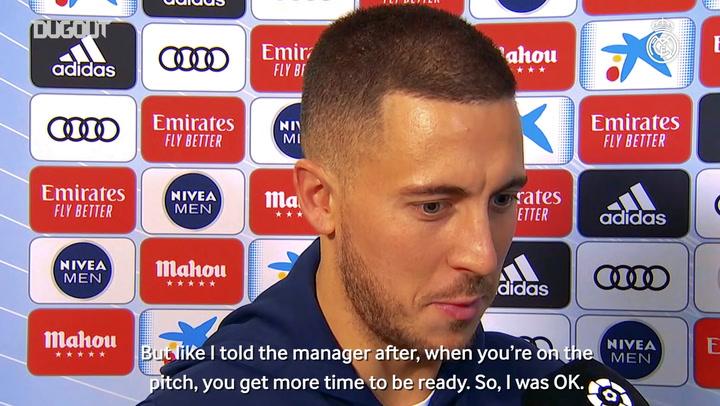Hazard: 'I'm happy with my performance'