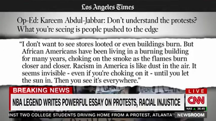 Kareem Abdul-Jabbar: 'Rioting Is Voices of People Who Have No Voice'