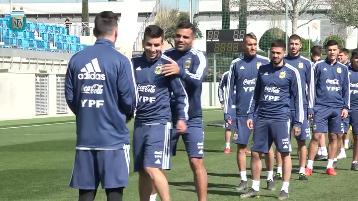 La selección argentina se activa antes del partido