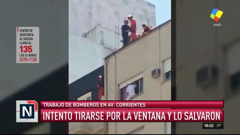 Bomberos impidieron que un hombre se suicidara