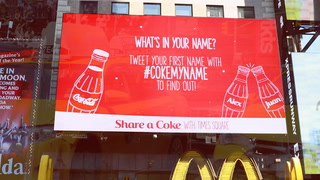 Digital signage teams with Coca-Cola to find out 'What's in a Name?' in Times Square