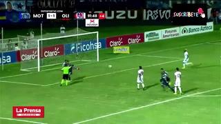 El penal al minuto 90 que le dio el triunfo al Motagua ante Olimpia