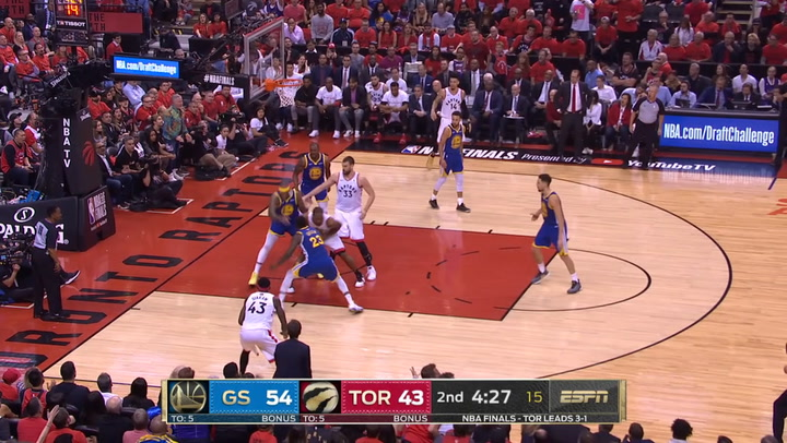 Las 5 mejores jugadas del quinto partido de la Final de la NBA Toronto Raptors-Golden State Warriors el 11 de junio de 2019