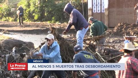 Al menos cinco muertos tras desbordamiento de río en México