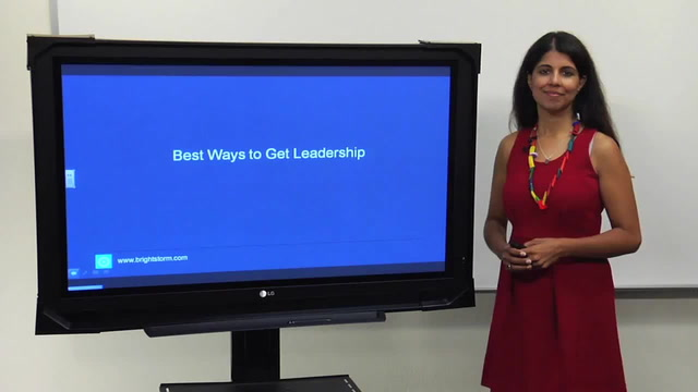 What are the best ways to get leadership positions?