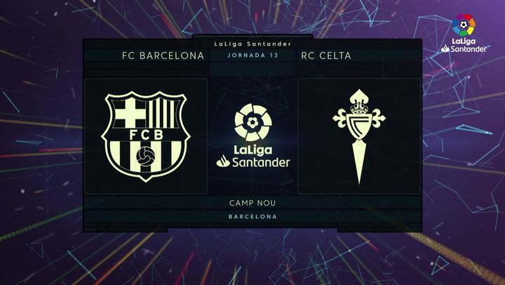 LaLiga (J13): Resumen y goles del Barcelona 4-1 Celta