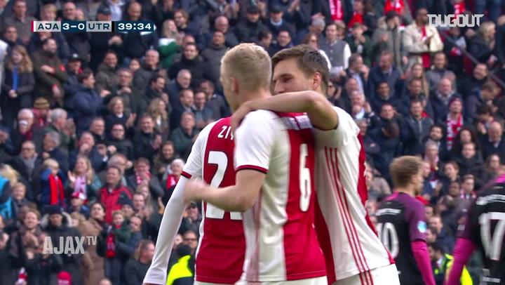 Donny van de Beek expertly finishes Ajax team goal vs FC Utrecht