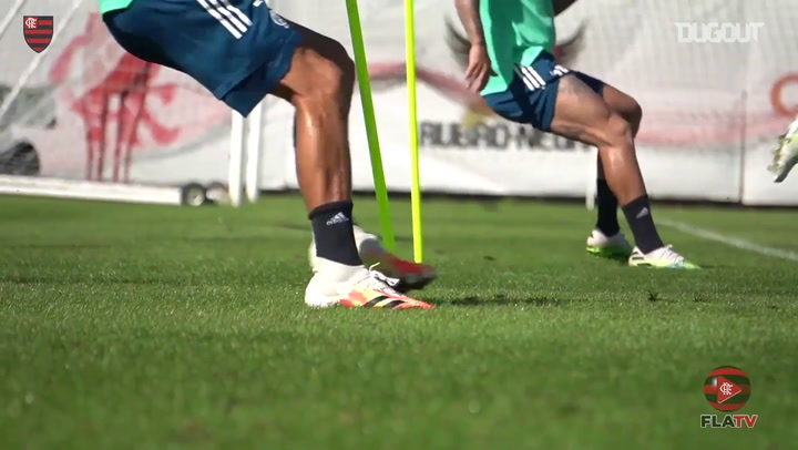Rafinha returns to training after recovering from an ankle injury