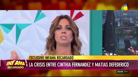 Defederico y su angustia por la separación de Cinthia Fernández: Llego a la noche y lloro