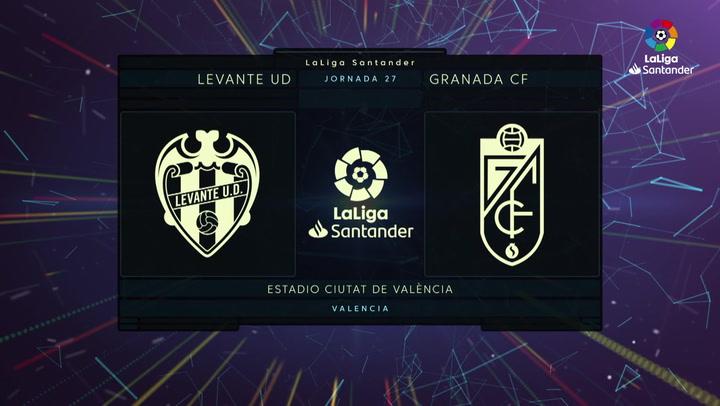 LaLiga Santander (J27): Resumen y goles del Levante 1-1 Granada