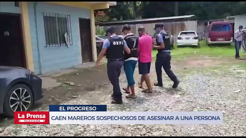 Caen mareros sospechosos de asesinar y enterrar a una persona en El Progreso