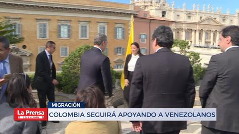 Colombia seguirá apoyando a venezolanos