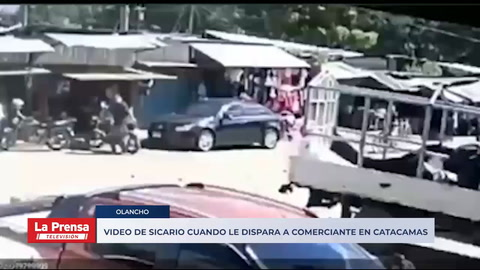 Video de sicario cuando le dispara a comerciante en Catacamas