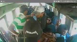 Ellos son los hombres que asaltaron un bus de ruta en Choluteca